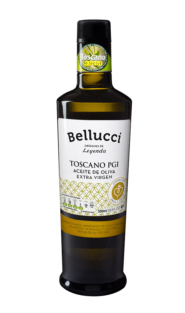 Bottle of Bellucci Toscano PGI Extra Virgin Olive Oil